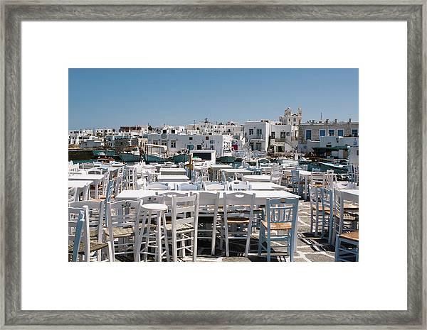 Whitewashed Naoussa Framed Print