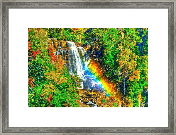 Whitewater Rainbow Framed Print