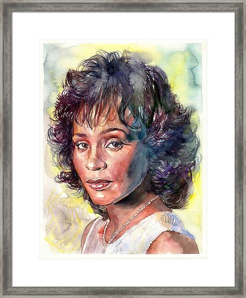 Whitney Houston Portrait Framed Print