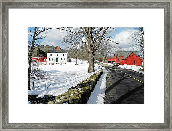 Whittier Birthplace Framed Print