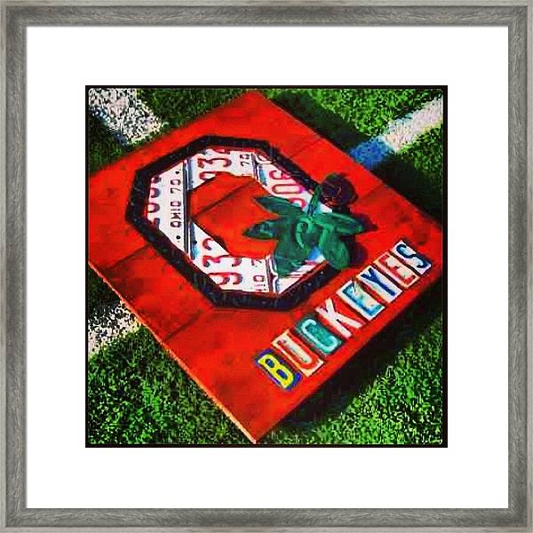 Who Are You Rooting For Tonight?  #osu Framed Print