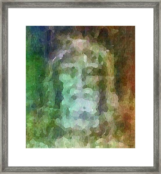 Who Do Men Say That I Am - The Shroud Framed Print