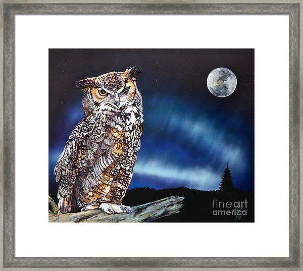 Who Doesn't Love The Night Framed Print