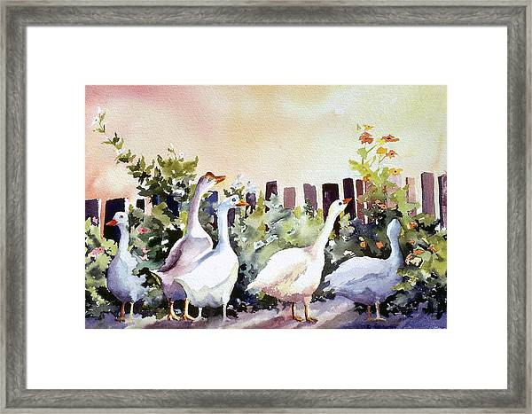 Who Is There Large Framed Print