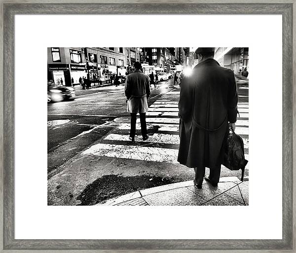 Who Is Working  Framed Print