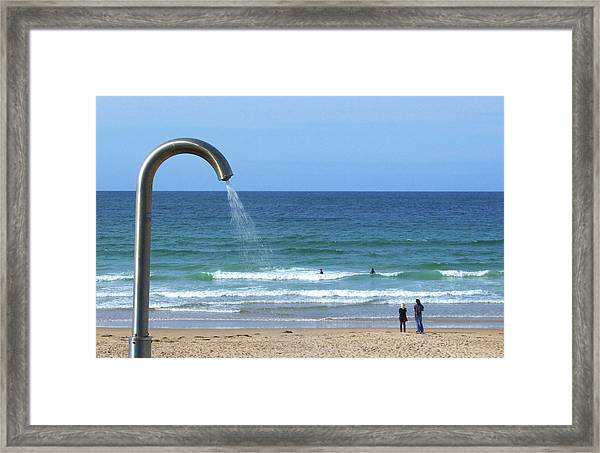 Who Left The Tap On Framed Print