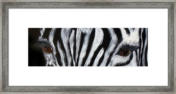 Whos Watching Who   Zebra Framed Print by Darlene Green