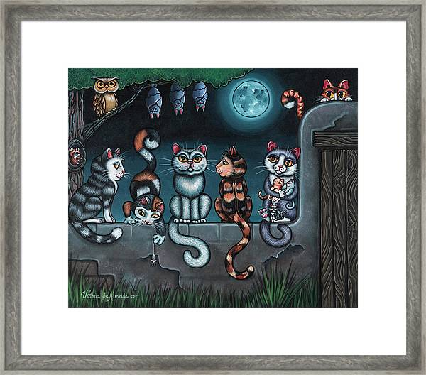 Whos Your Daddy Cat Painting Framed Print