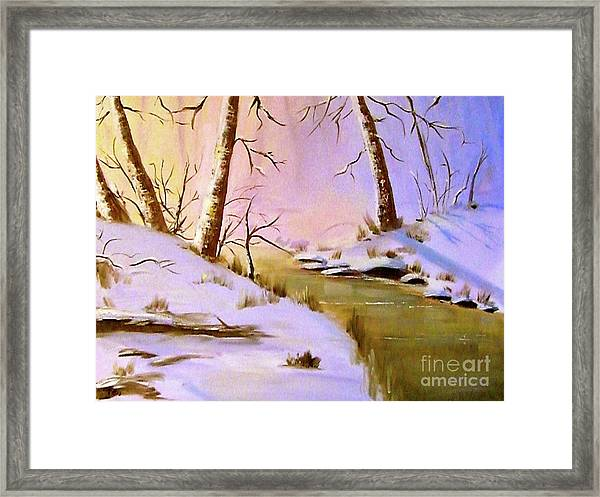 Whose Woods These Are Framed Print