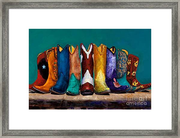 Why Real Men Want To Be Cowboys 2 Framed Print