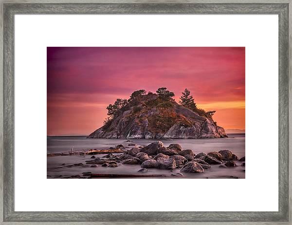 Whytecliff Island Sunset Framed Print