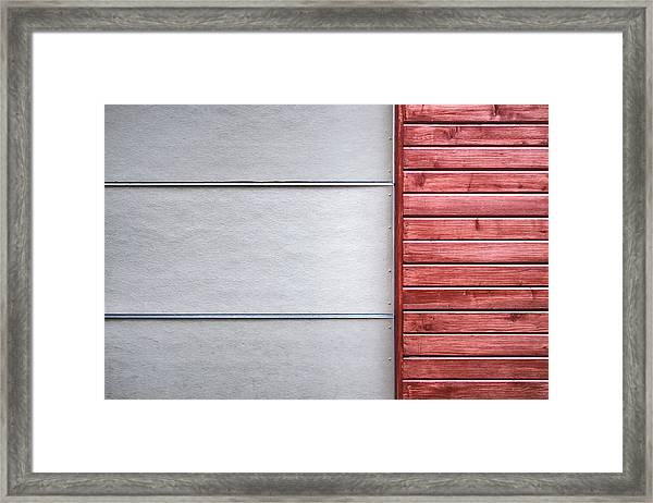 Wide And Narrow Lines Framed Print