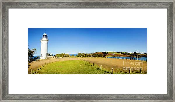 Wide Coastal Beacon Framed Print