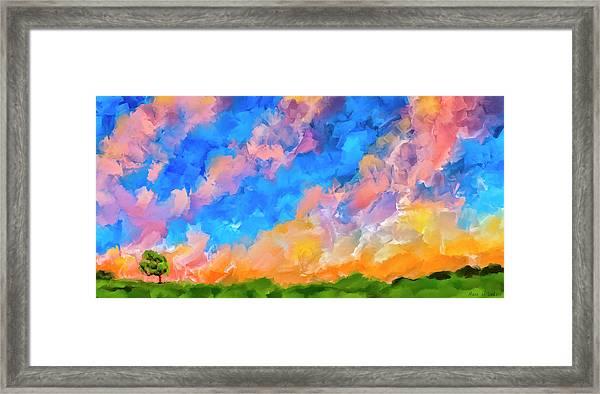 Wide Open Skies Framed Print