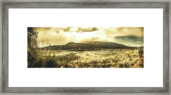 Wide Open Tasmania Countryside Framed Print