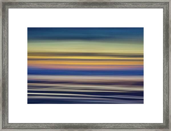 Widemouth, Bude, Cornwall Uk, Impressionism A Framed Print