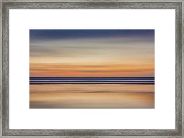 Widemouth, Bude, Cornwall Uk, Impressionism C Framed Print