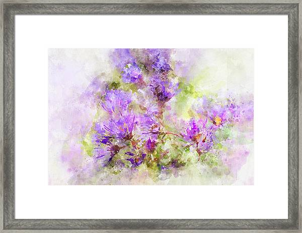 Wild Flowers In The Fall Watercolor Framed Print