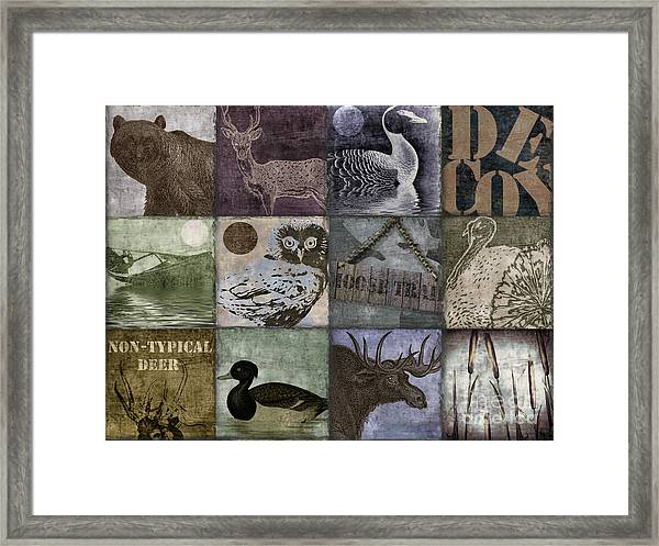 Wild Game Patchwork II Framed Print