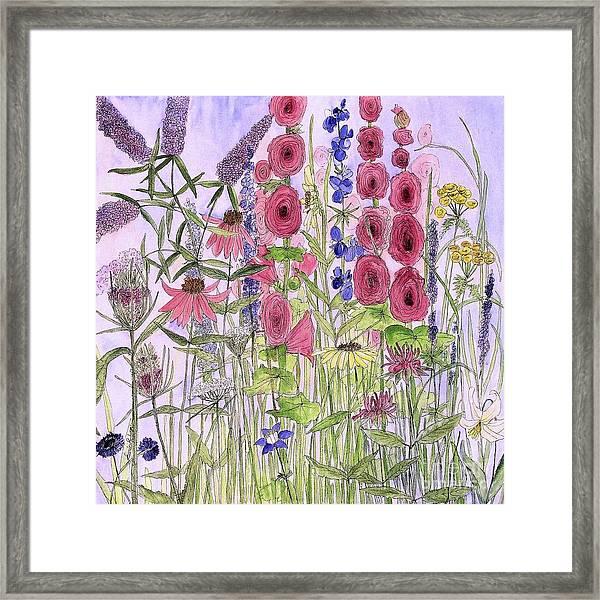 Wild Garden Flowers Framed Print