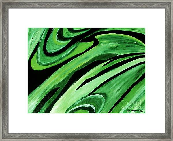 Wild Green Framed Print