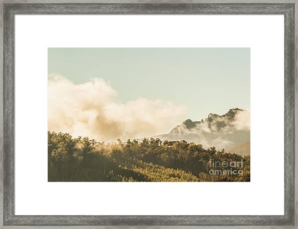 Wild Morning Peak Framed Print
