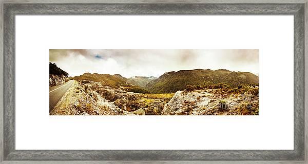 Wild Mountain Terrain Framed Print