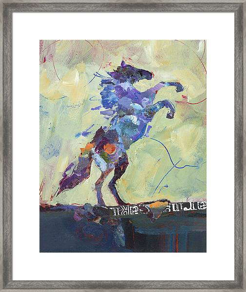Framed Print featuring the painting Wild Pony by Shelli Walters