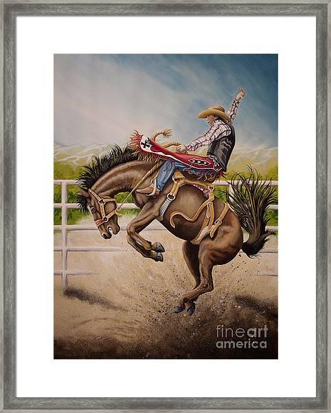 Wild Ride Bronc Framed Print
