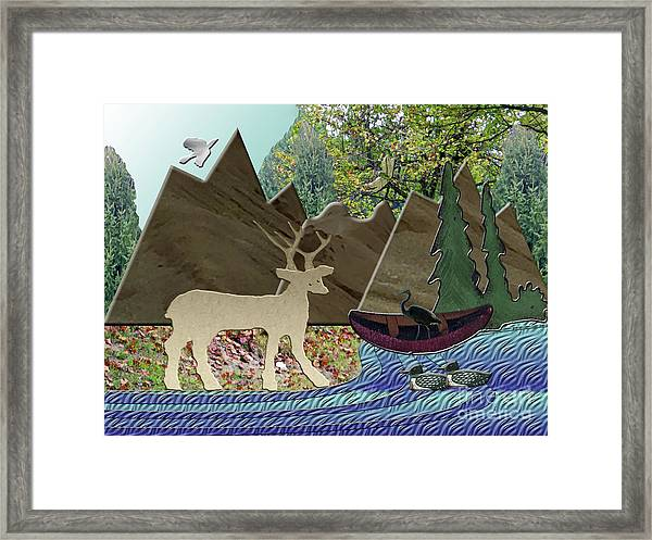 Wild Rural Animals Framed Print