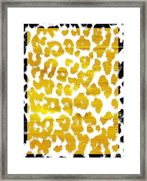 Wild Thing Leopard Pattern Framed Print
