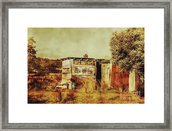 Wild West Australian Barn Framed Print