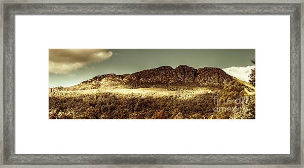 Wild West Mountain Panorama Framed Print