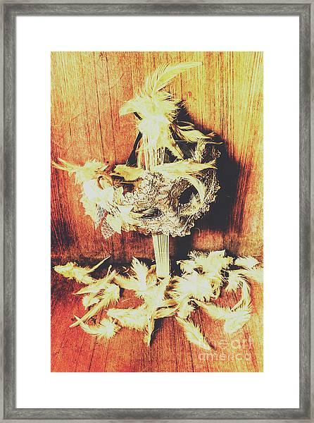 Wild West Saloon Dancer Still Life Framed Print