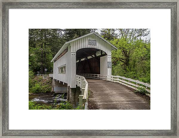 Wildcat Creek Bridge No. 1 Framed Print