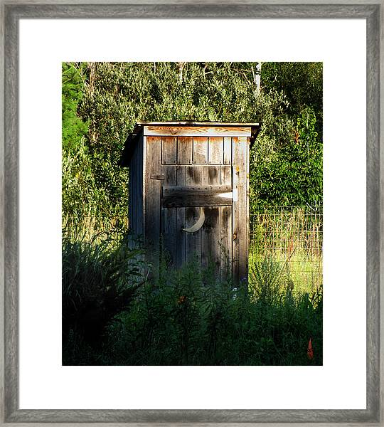 Wilderness Bathroom Framed Print