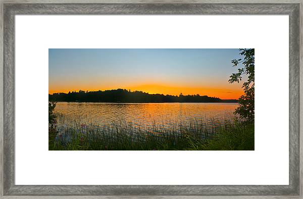 Wilderness Point Sunset Panorama Framed Print
