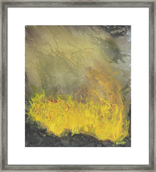 Framed Print featuring the painting Wildfire by Antonio Romero