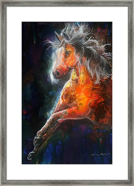 Wildfire Fire Horse Framed Print