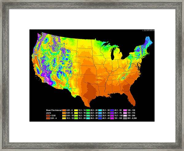 Wildfire Frequency Framed Print