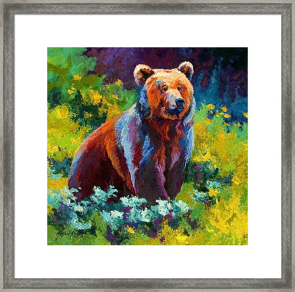 Wildflower Grizz Framed Print