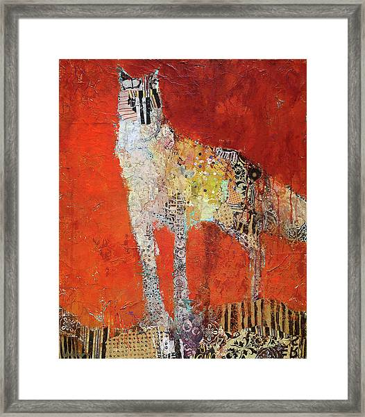 Framed Print featuring the painting Wildflower by Shelli Walters