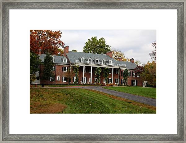 Wildwood Manor House In The Fall Framed Print