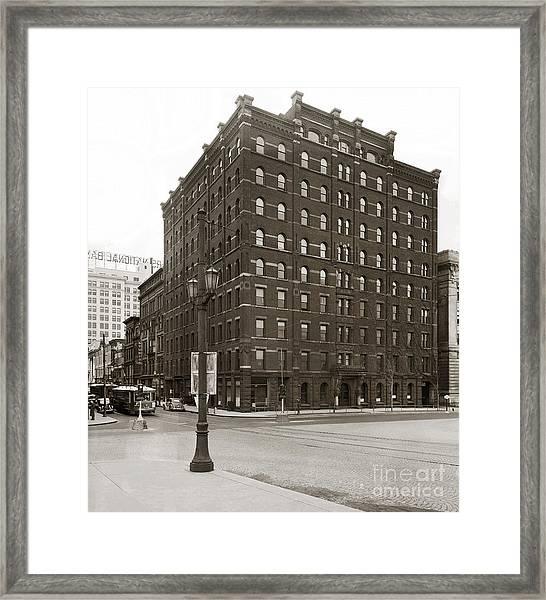 Wilkes Barre Pa Hollenback Coal Exchange Building Corner Of Market And River Sts April 1937 Framed Print