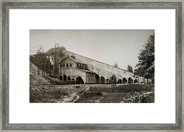 Wilkes Barre Twp Pa Empire Number 5 Coal Breaker 1880 Lehigh And Wb Coal Co. Framed Print