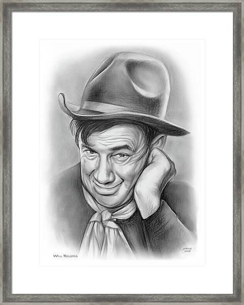 Will Rogers 10aug18 Framed Print