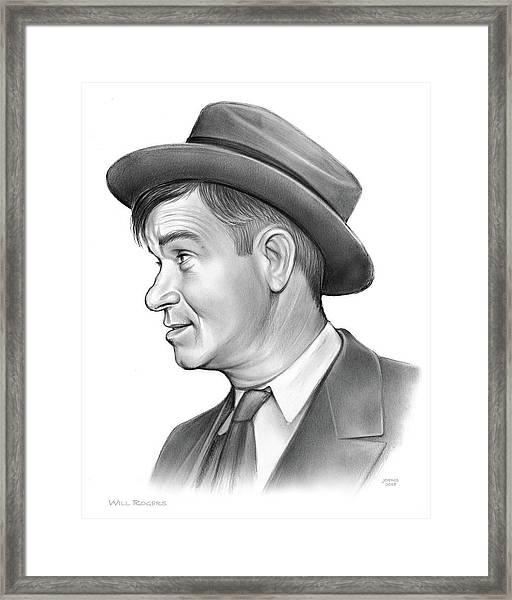 Will Rogers Framed Print