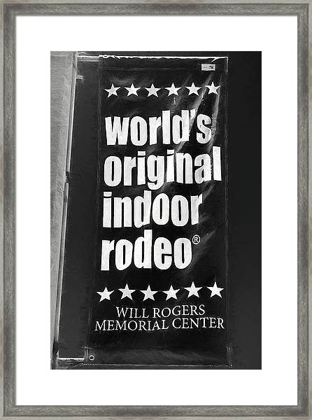 Will Rogers Rodeo Bw Framed Print
