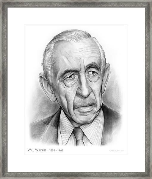 Will Wright Framed Print
