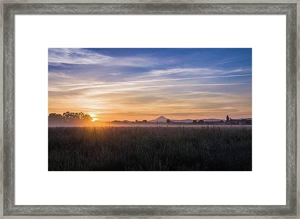 Willamette Valley Sunrise Framed Print